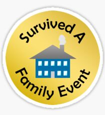 Adulting Merit Badge - Social Responsibility - Family Gathering Sticker