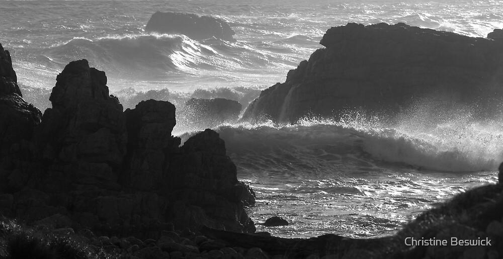 Seascape in monochrome by Christine Beswick