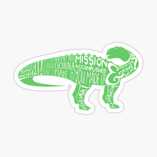 Countdown to Extinction (DINOSAUR GREEN) Sticker