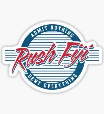 Old Row Fiji Sticker