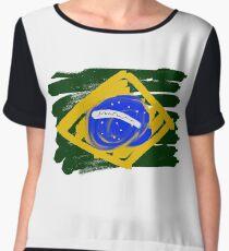 Brazilian Flag Chiffon Top
