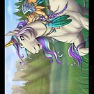 Meadow Unicorn Poster by cybercat