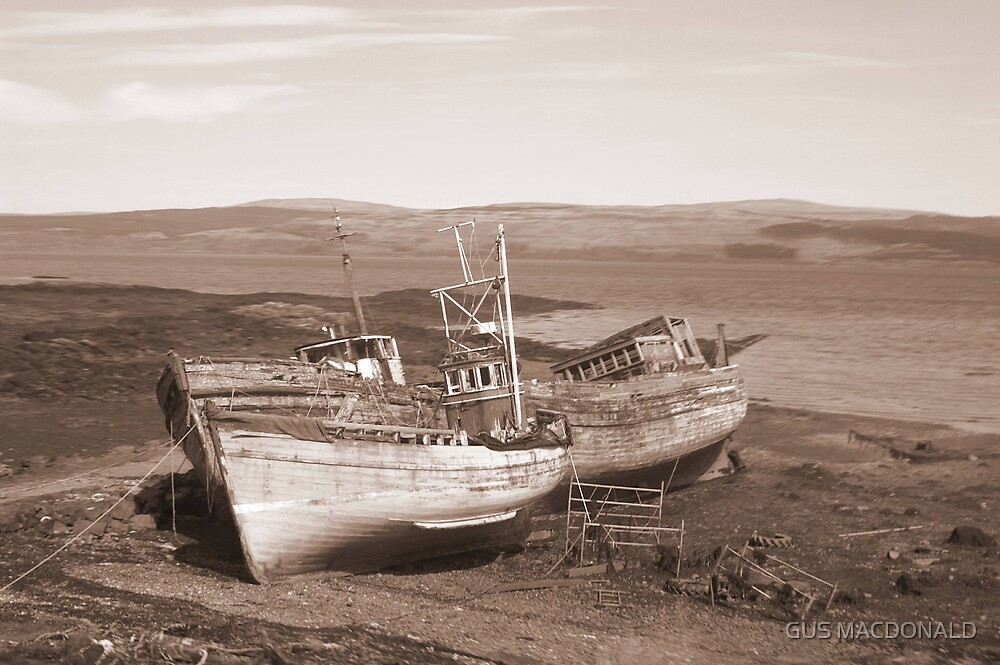 BEACHED BOATS by GUS MACDONALD