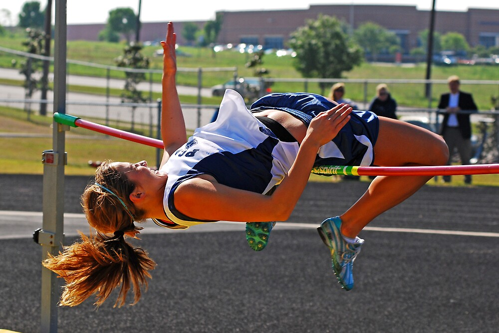 GIRLS HIGH JUMP  by kevin  wiebold
