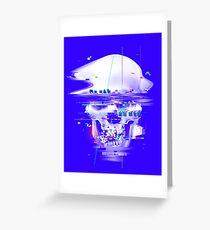 Blue Glitch of Death Greeting Card