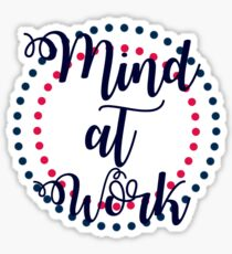 looking for a mind at work Sticker