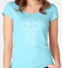 One Less Car Earth Friendly Bicycle Women's Fitted Scoop T-Shirt