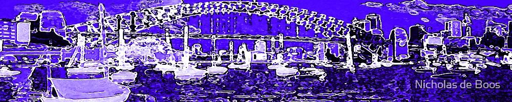 Harbour in Blue by Nick de Boos