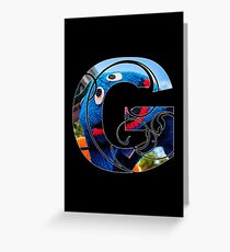 G is for grover Greeting Card