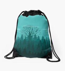 Forest Landscape Drawstring Bag