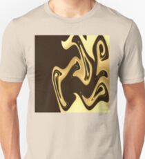 Brown and Yellow Abstract Unisex T-Shirt