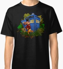 Doctor Tiger with Blue Phone Box Classic T-Shirt