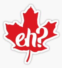 Canada, Eh? Maple Leaf Sticker