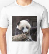 Baby panda climb a tree Unisex T-Shirt