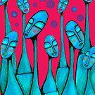 Blue Bottle Necks by littlearty