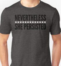 Nevertheless She Persisted (Black/White Stars) Unisex T-Shirt