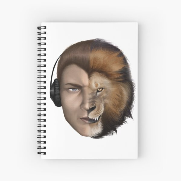 BORN READY - Lion Tee Spiral Notebook