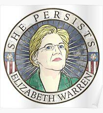 "Elizabeth Warren 'She Persists"" Poster"