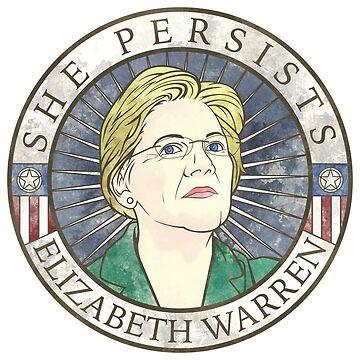 """Elizabeth Warren 'She Persists"""" by saraadrian"""