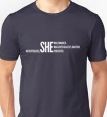 Nevertheless She Persisted (White Staggered) Unisex T-Shirt
