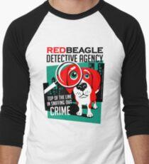 Red Beagle Detective Agency Retro T-shirt- original art Men's Baseball ¾ T-Shirt