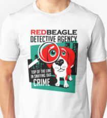 Red Beagle Detective Agency Retro T-shirt- original art Unisex T-Shirt