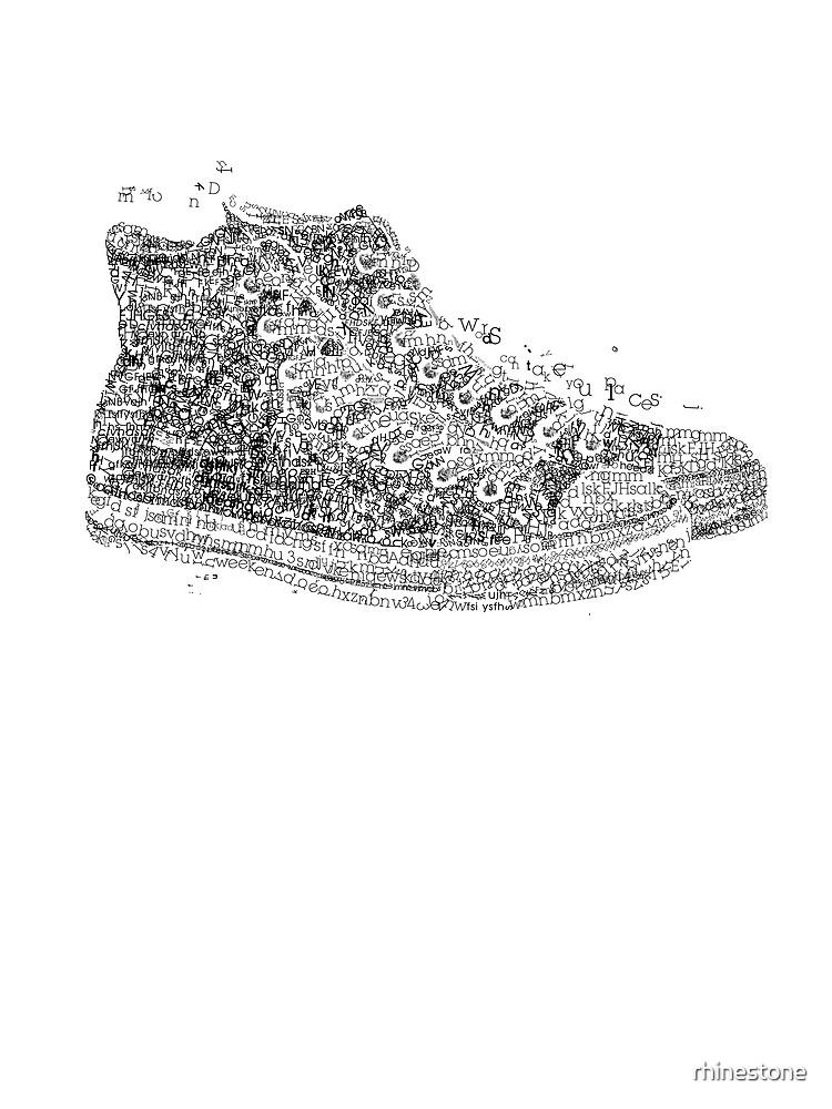 type shoe by rhinestone