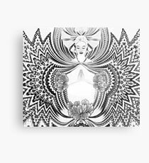 Yoga Girl Metal Print