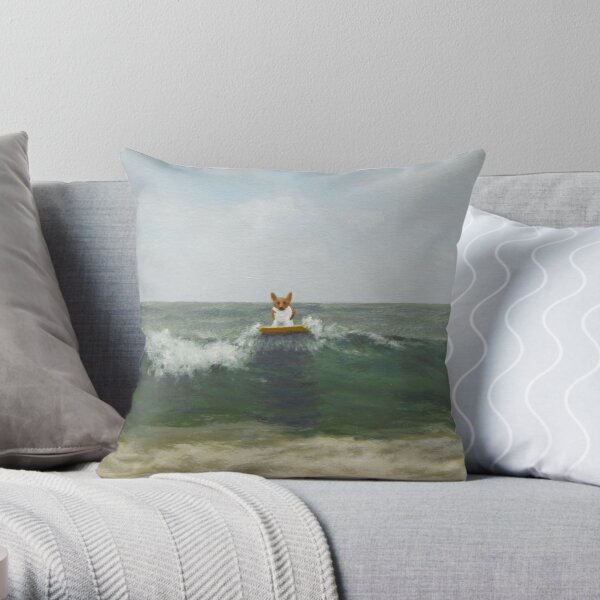 Arriving from Wales Throw Pillow