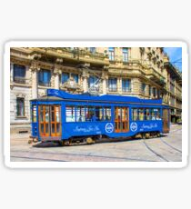 Vintage tram in Milano, ITALY Sticker