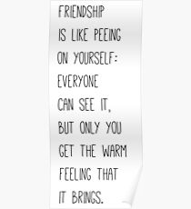 Friendship Hilarious Quote Poster