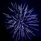 Fireworks - Blue Streak by Klaus Bohn