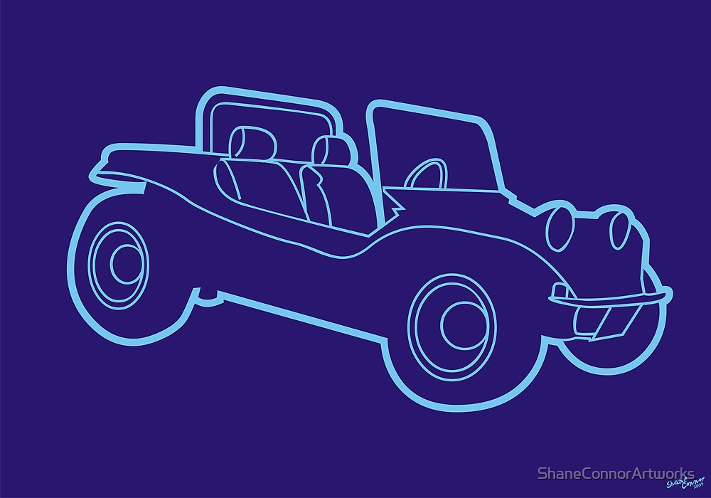 BLUE BUBBLE BUGGY by Shane Connor Digital Artworks