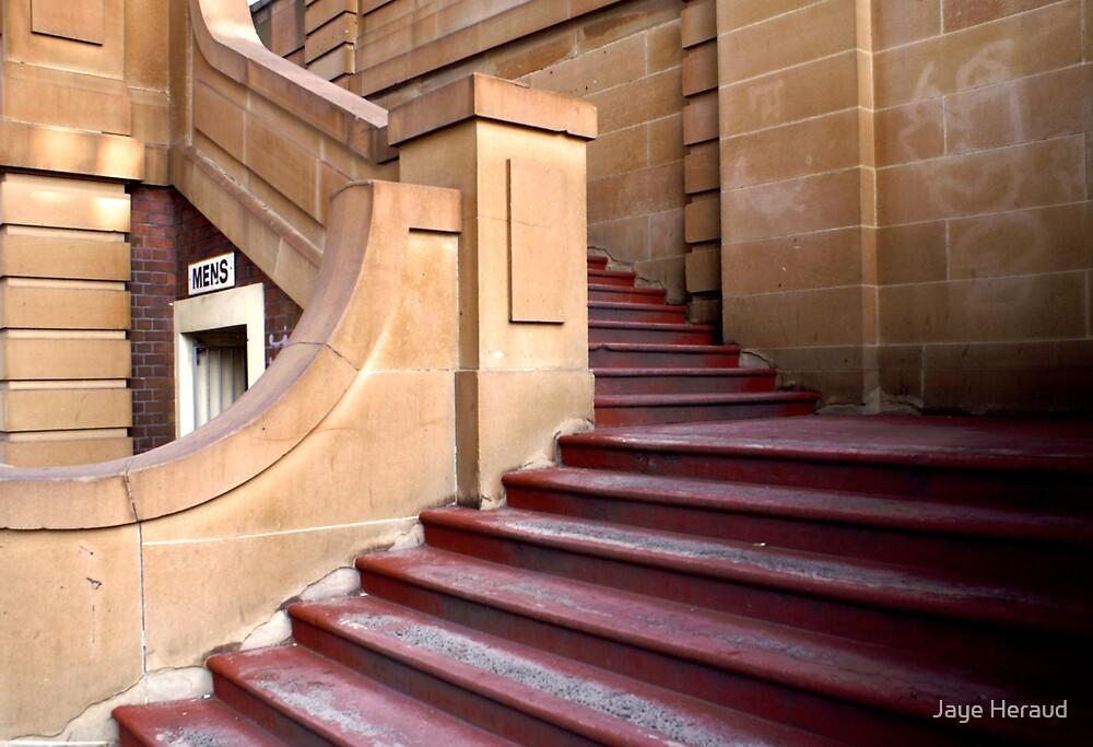 Steps through Sandstone by Jaye Heraud