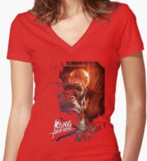 Mighty Kong Women's Fitted V-Neck T-Shirt