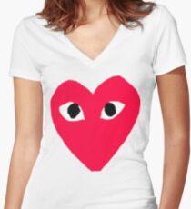 COMME DES GARÇONS PLAY Women's Fitted V-Neck T-Shirt