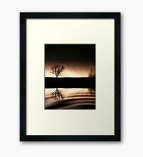 Storm in Sepia Framed Print