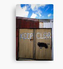 Keep Clear Canvas Print