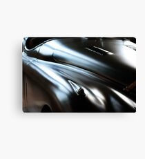 Vintage classic elegant black car hood Canvas Print