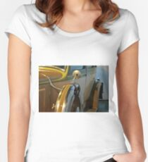 Vintage car detail with wheels Women's Fitted Scoop T-Shirt