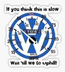 VW Speedometer  Sticker
