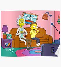 Yellow Rick Living Room Poster