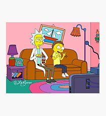 Yellow Rick Living Room Photographic Print