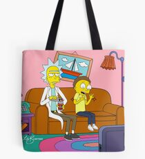 Yellow Rick Living Room Tote Bag
