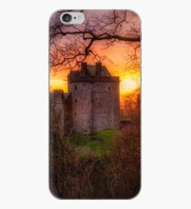 Sunset over Castle Campbell in Scotland iPhone Case