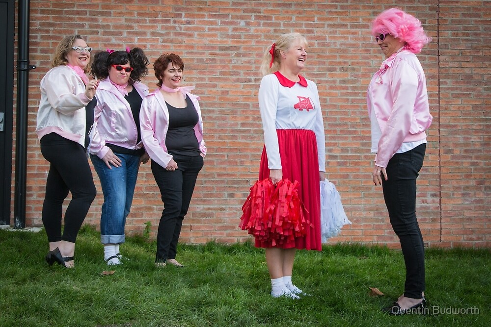 Hullywood Icons -  Anne Chatterton(Frenchie) Dianne Rees (Sandy) Zoe Allison (Rizzo) Claire Champlin (Jan), Beccy O'Sullivan (Marty). by Quentin Budworth