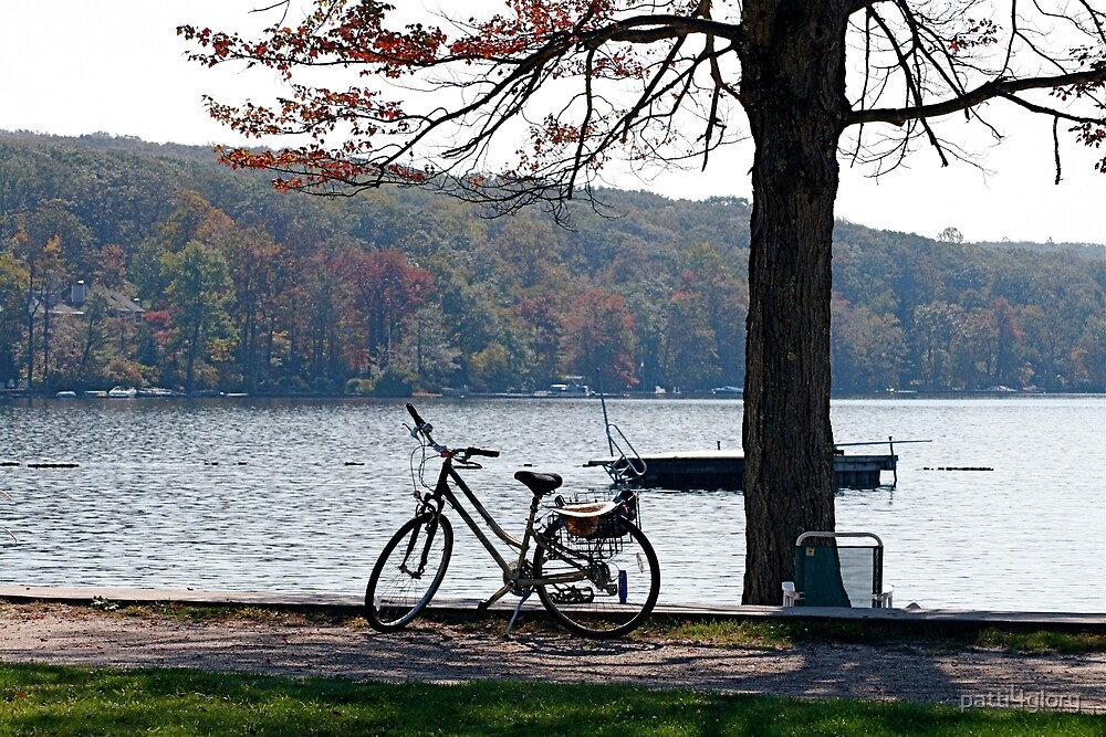 Bicycle at the Lake by patti4glory