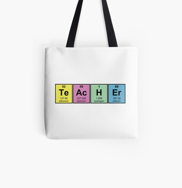 Science Teacher Chemical Elements All Over Print Tote Bag