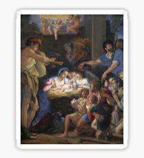 Domenichino - The Adoration Of The Shepherds Sticker