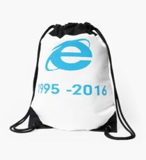 Internet Explorer Rest in Peace Drawstring Bag